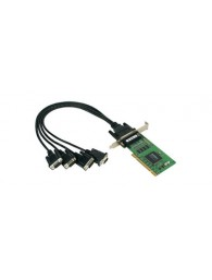 CP-104UL: 4-port RS-232 smart Universal PCI serial boards
