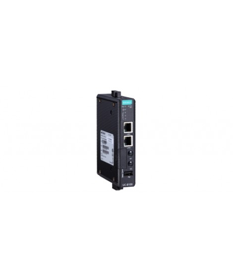 UC-8100 Series: Arm-based wireless-enabled DIN-rail industrial computer with 2 serial ports and 2 LAN ports